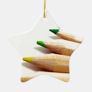 coloured pencils Artist Illustrator Ceramic Star Decoration