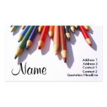 Coloured Pencils Fully Customisable Business Card