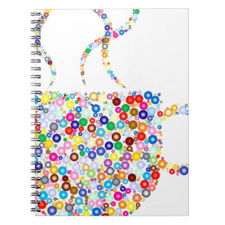 Coloured Steaming Cup Spiral Notebooks