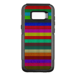 Coloured stripes tile texture OtterBox commuter samsung galaxy s8+ case
