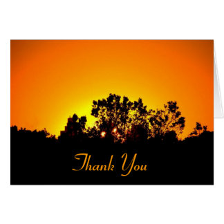 Coloured Sunset by Bobby Mikul thank you note card