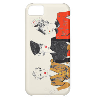 Coloured vintage art print of 3 classic ladies iPhone 5C case