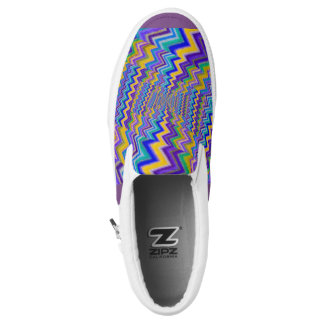 coloured vortex on Slip Ons shoes