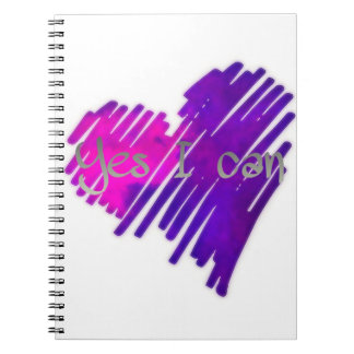 Coloured Yes I Can Notebook