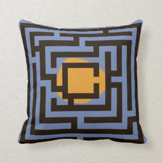 Colourful 2 in 1 Labyrinth Pattern on Custom Throw Pillow