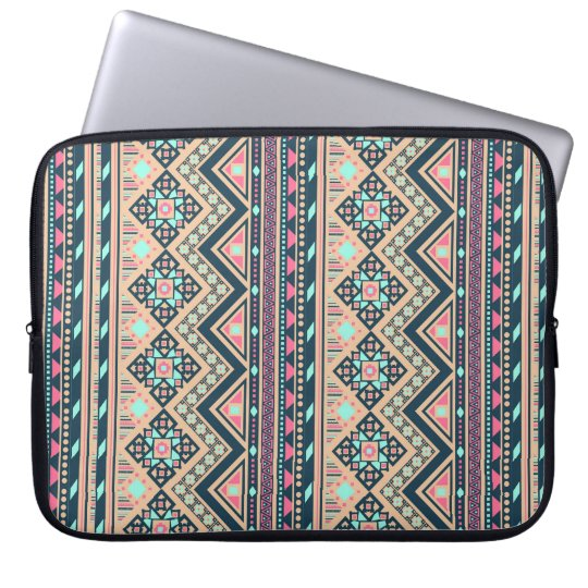 Colourful Abstract Aztec Tribal Pattern Laptop Sleeve