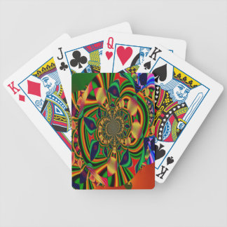 Colourful Abstract Bicycle Poker Playing Cards