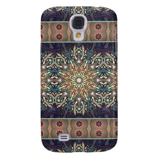 Colourful abstract ethnic floral mandala pattern samsung galaxy s4 covers