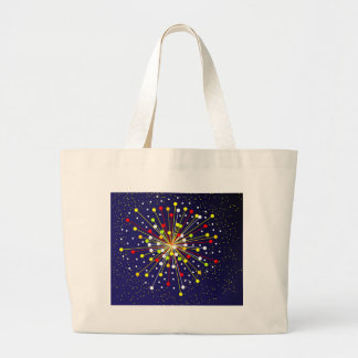 Colourful Abstract Explosion Large Tote Bag