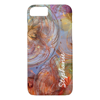 Colourful Abstract Floral Geometric Swirls iPhone 7 Case