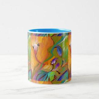 Colourful abstract Floral MUG