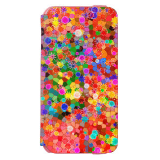 Colourful abstract Flower Case Incipio Watson™ iPhone 6 Wallet Case