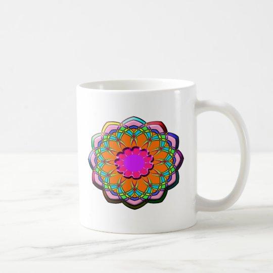 Colourful abstract flower coffee mug