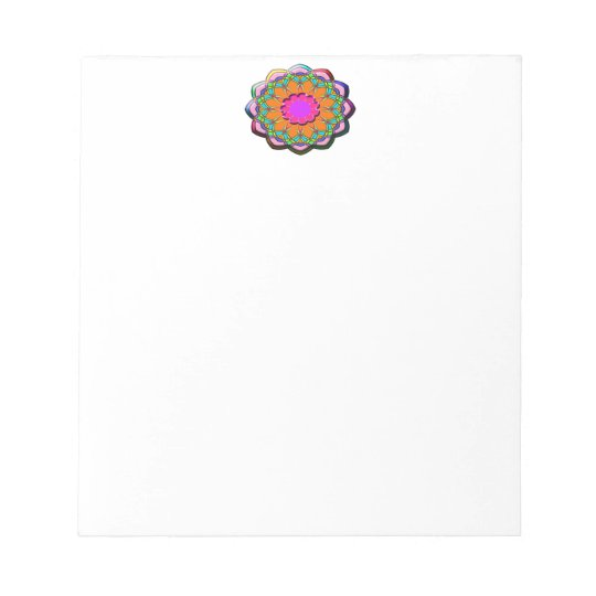 Colourful abstract flower notepad