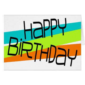 Colourful Abstract Geometrics Happy Birthday Card