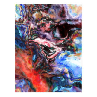 Colourful Abstract Postcard