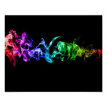Colourful Abstract Smoke - A Rainbow in the Dark Poster