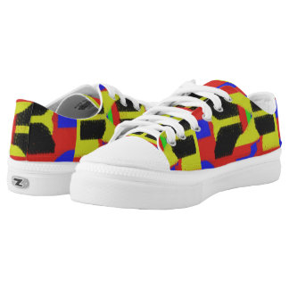Colourful abstract trendy pattern printed shoes