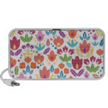 Colourful abstract tulips pattern mini speakers