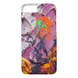 Colourful acrylic art iPhone 7 cover .