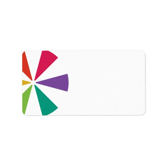 Colourful Address Labels