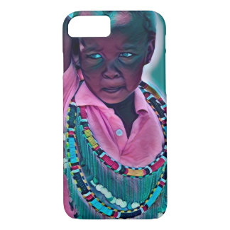 Colourful African Maasai kid  iPhone / iPad case