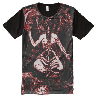 Colourful Ancient Baphomet Blood God All-Over Print T-Shirt