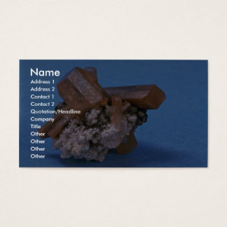 Colourful and shiny Topaz crystals Business Card