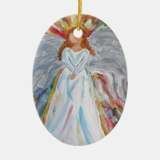 Colourful Angel Ceramic Ornament