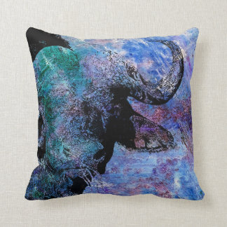Colourful Animal Cushion, Buffalo print Cushion