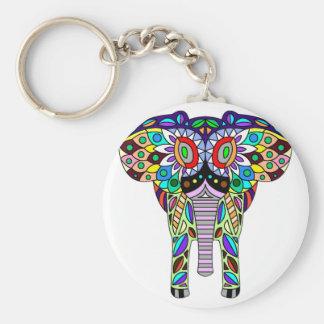 Colourful animals key ring