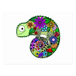 Colourful animals postcard