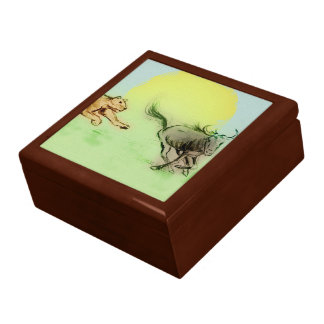 Colourful animals sketch tile gift box - Chase