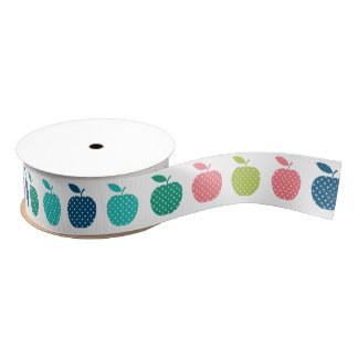 colourful apple ribbon grosgrain ribbon