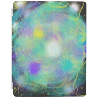 Colourful Aqua Blue Abstract Art Painting Design iPad Cover