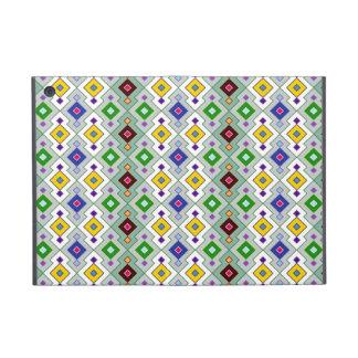 Colourful Argyle Rhombic Diamond Pattern Cover For iPad Mini