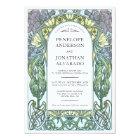 Colourful Art Nouveau Wedding Invitations (Set #1)