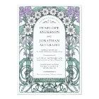 Colourful Art Nouveau Wedding Invitations (Set #6)