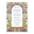 Colourful Art Nouveau Wedding Invitations (Set #9)