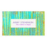 Colourful Artistic Turquoise Blue Bamboo Nature Pack Of Standard Business Cards