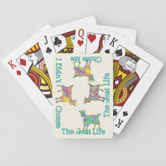 Colourful Artsy Goats Standing on Things Design Playing Cards