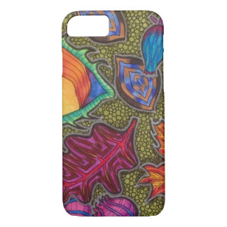 Colourful Autumn Fall seeds and leaves iPhone 8/7 Case