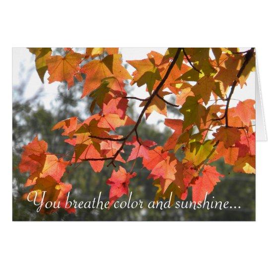 Colourful Autumn Leaves Card