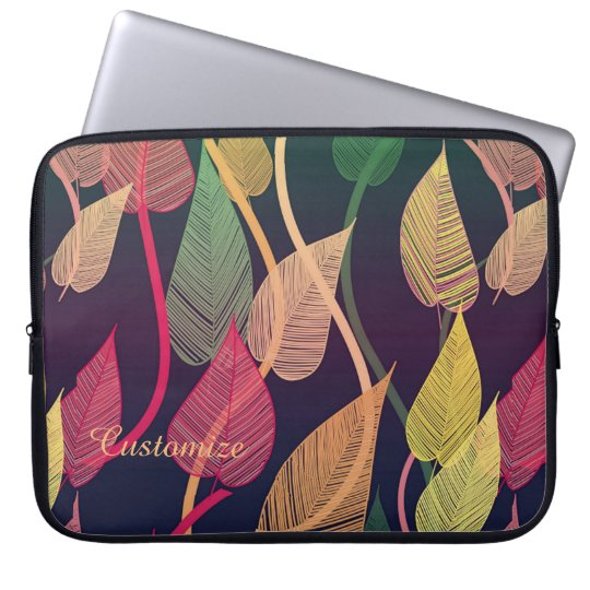 Colourful Autumn Leaves Pattern Laptop Sleeve