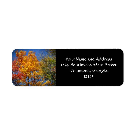 Colourful Autumn Trees Return Address Label