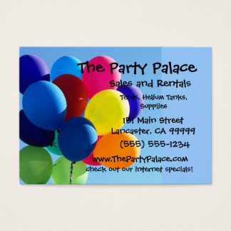Colourful Balloons Business Card