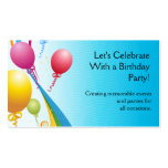 Colourful Balloons | Curly Ribbons Business Card Templates