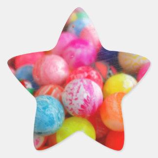 colourful balls star sticker