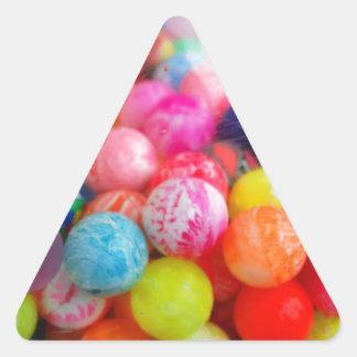 colourful balls triangle stickers