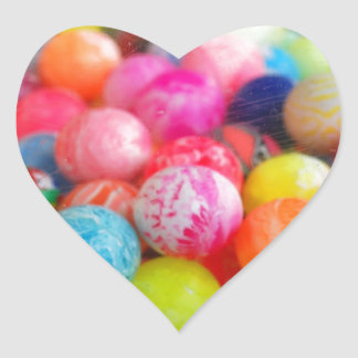 colourful balls heart stickers